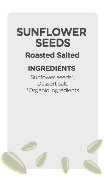 Buy online organic Sunflower Seeds Roasted Salted