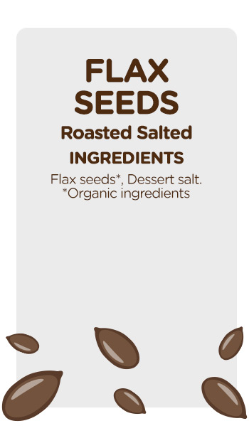 Flax Seeds Roasted Salted