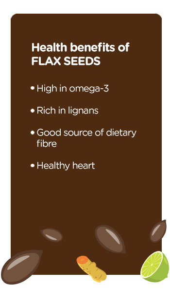 Buy online organic flax seeds tangy turmeric