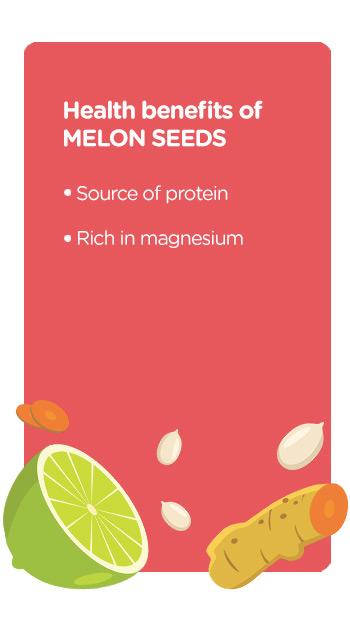 Buy online organic melon seeds tangy turmeric