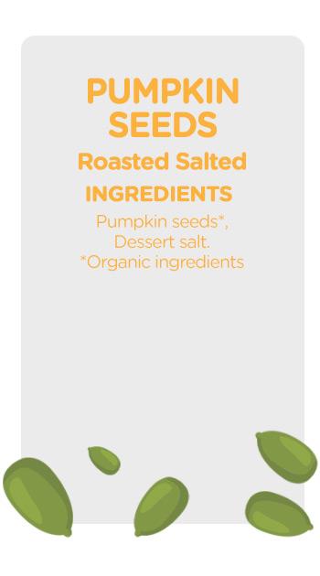 Buy online organic Pumpkin Seeds Roasted Salted