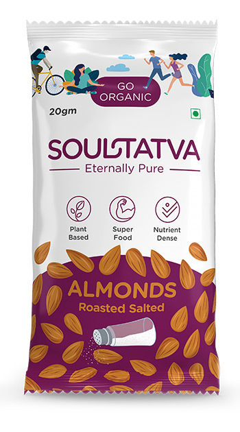 Buy online organic Almonds Roasted Salted