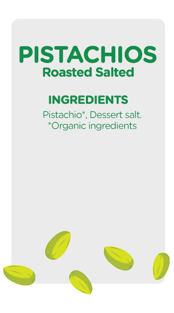 Buy online organic Pistachios Roasted Salted